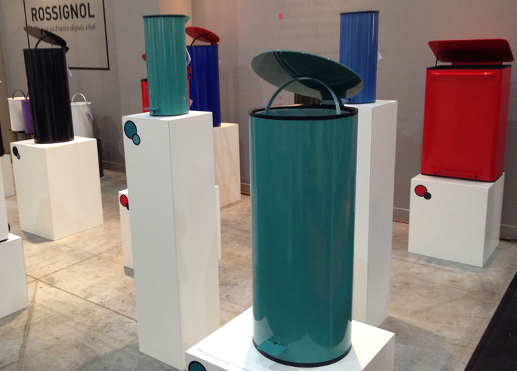 Perigot powder coated design modern trash can litter bin recycling canister French France