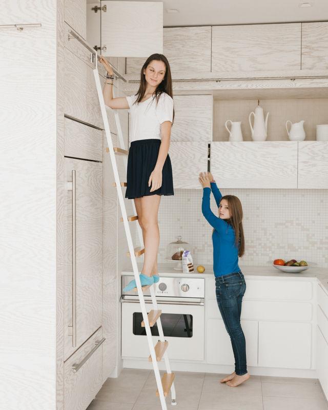 arctic white kitchen renovation interior portrait
