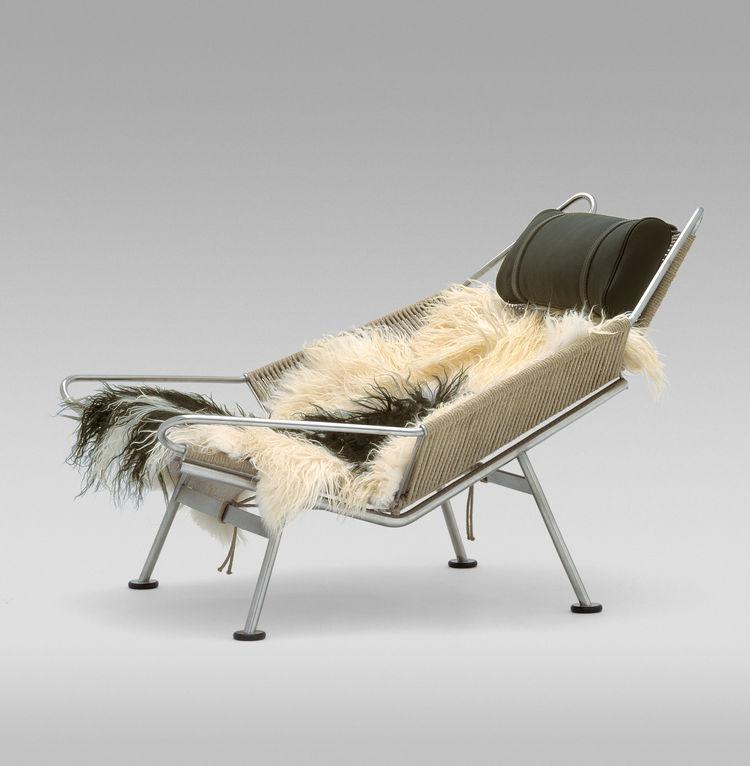 Hans Wegner Flag Halyard Chair danish design fur rope chair