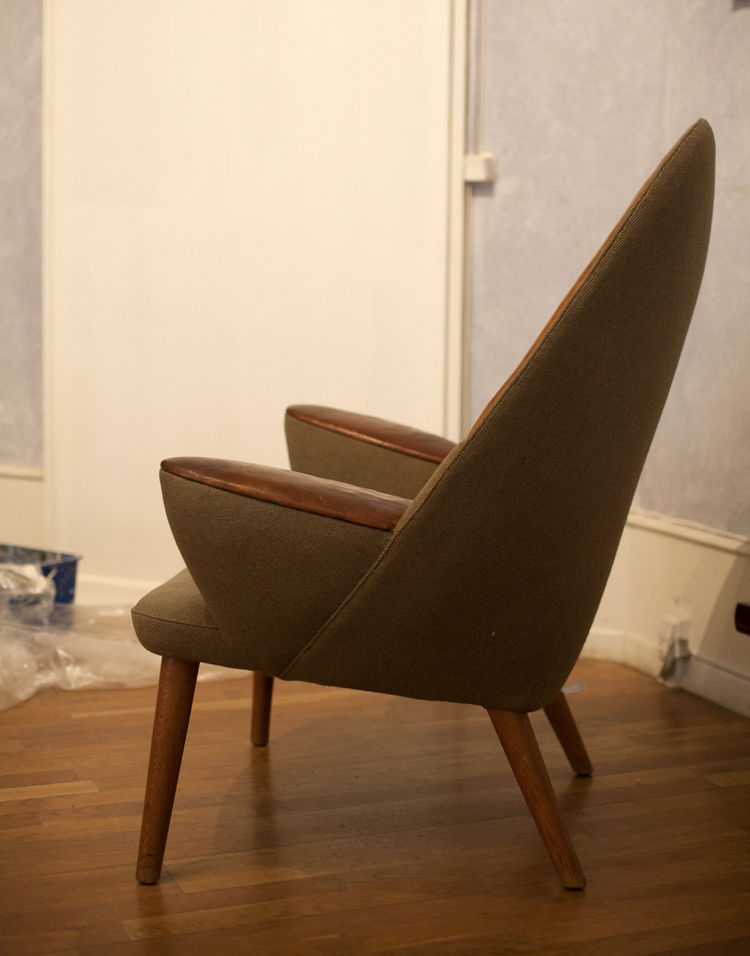 Hans Wegner upholstered Peacock Chair Danish design