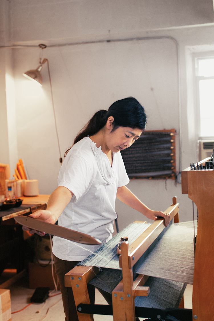 designer spotlight Hiroko Takeda working in studio