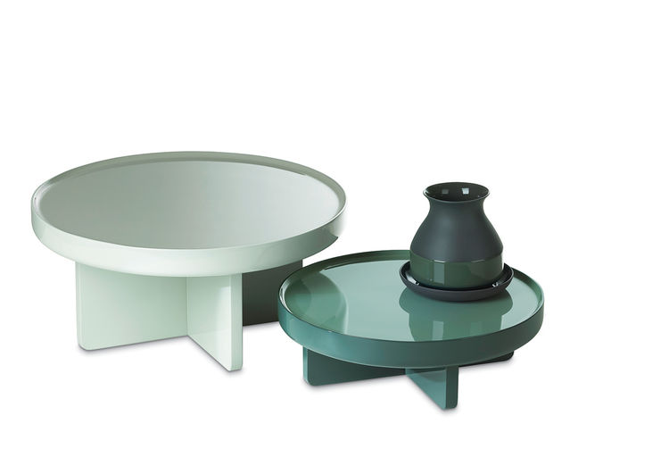 lacquer, low, table, pastel, green