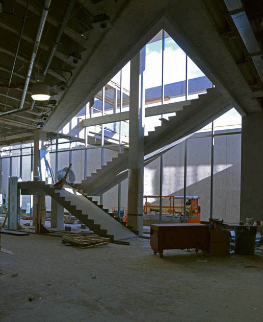 Visitor Center, construction, Clark Institute