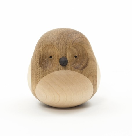 a wooden owl figurine