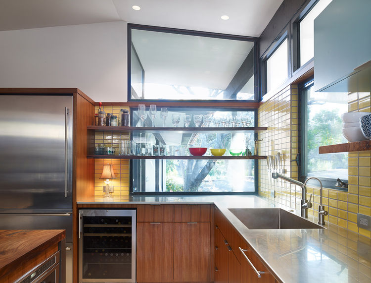 a close up of the renovated kitchen