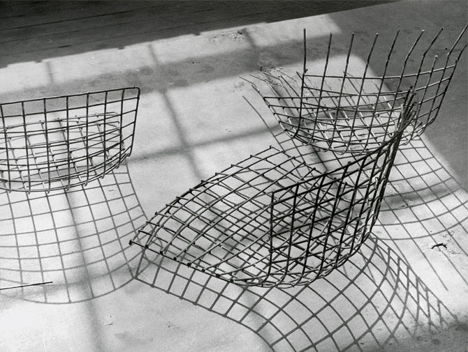 harry bertoia wire chair design knoll