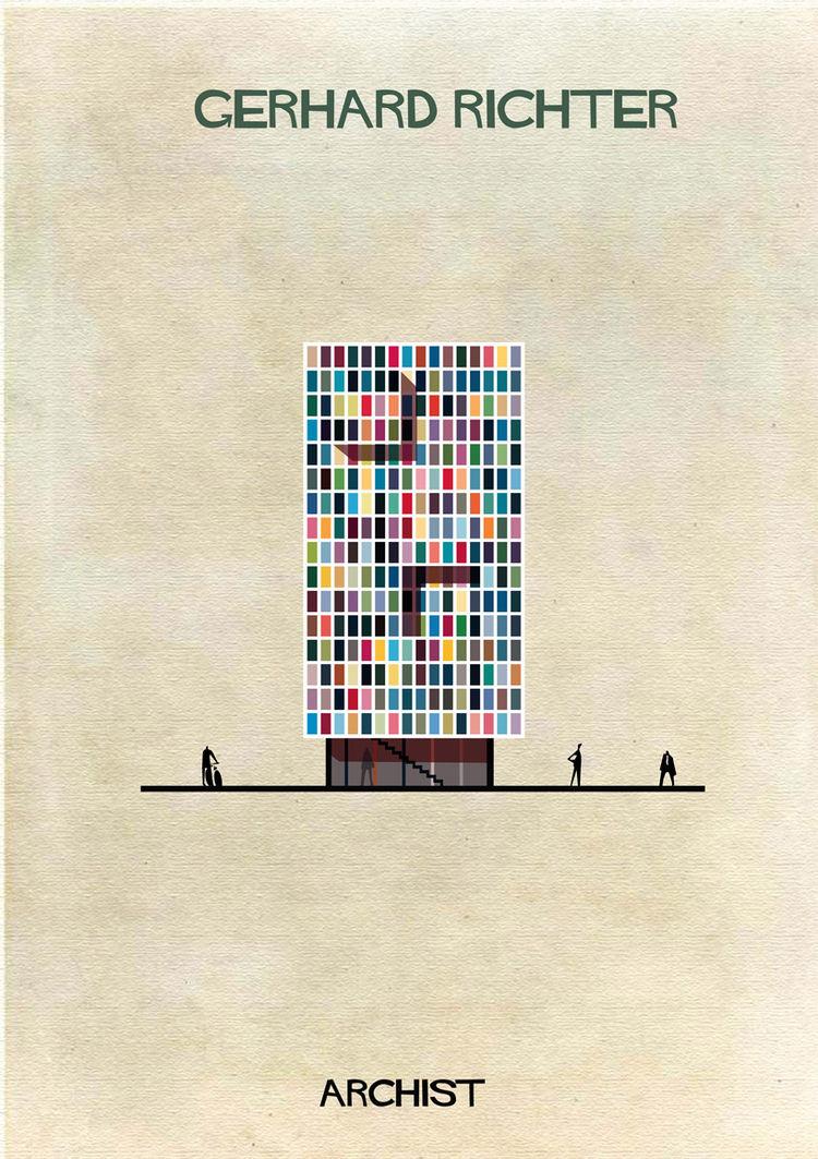 Federico Babina Archist series art architecture Gerhard Richter
