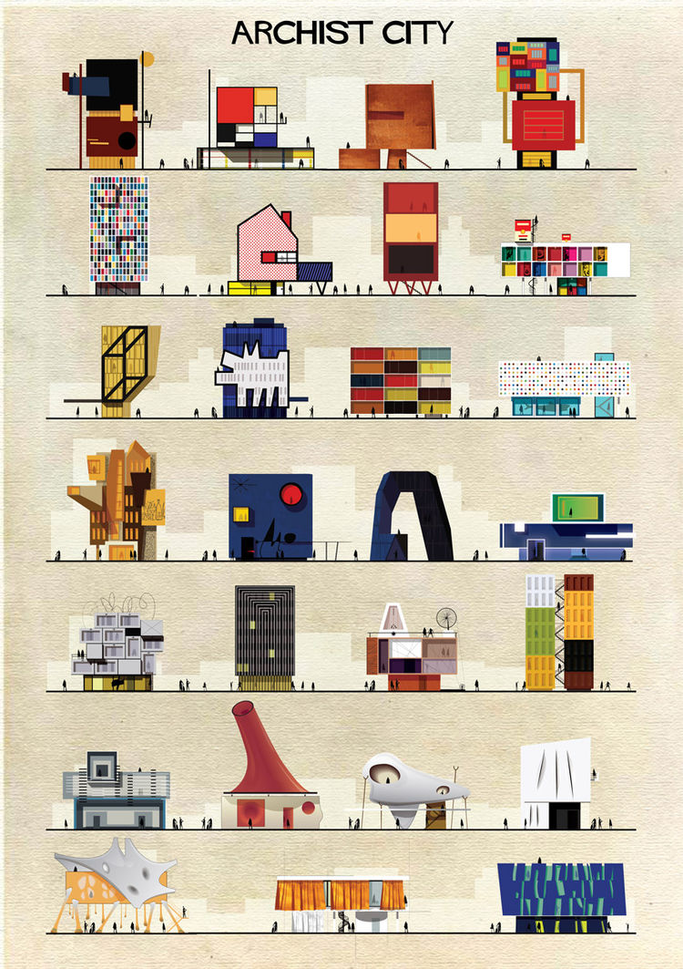 Federico Babina Archist poster series art architecture