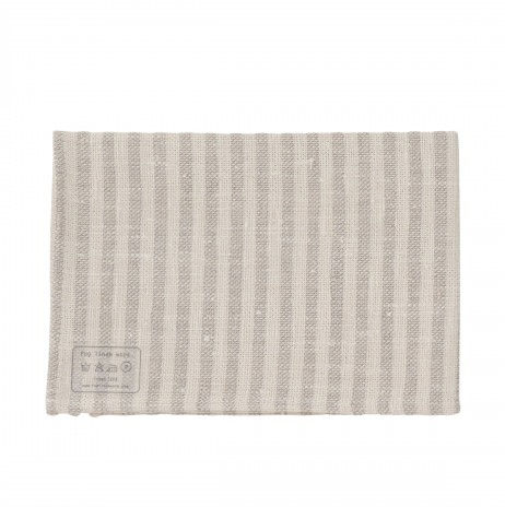 gray striped linen kitchen cloth