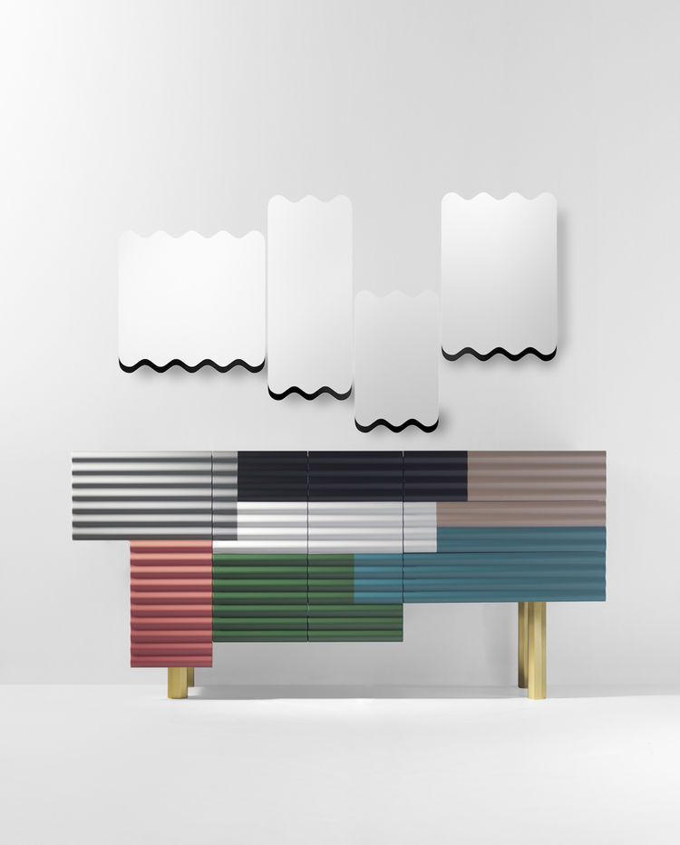doshi levien shanty colorful cabinets