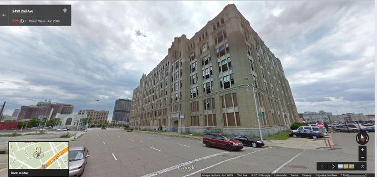 Google Street View Detroit 2009