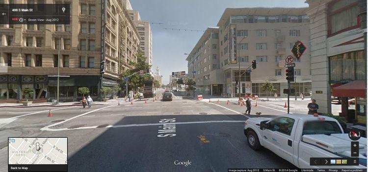 Google Street View LA 2012