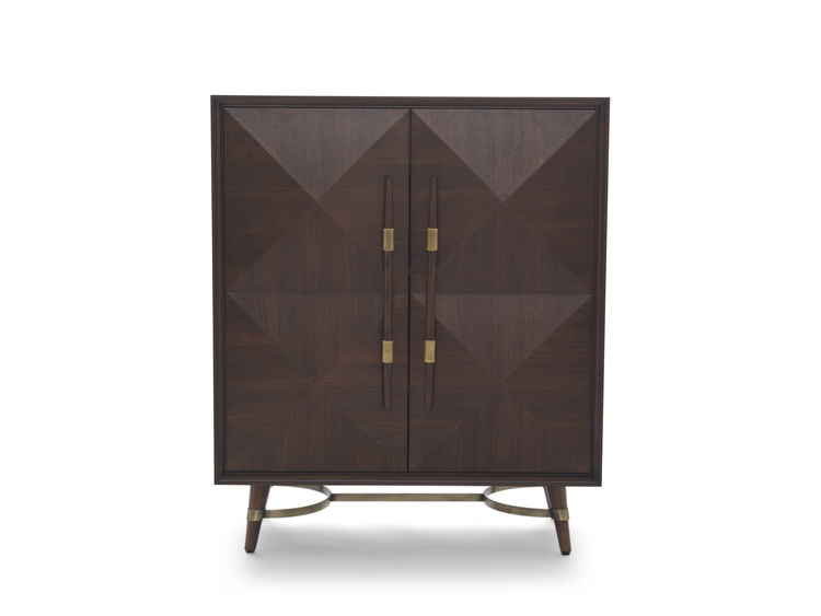 dark brown storage unit