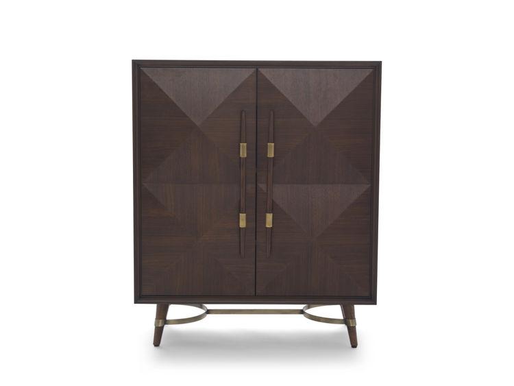 dark brown storage unit