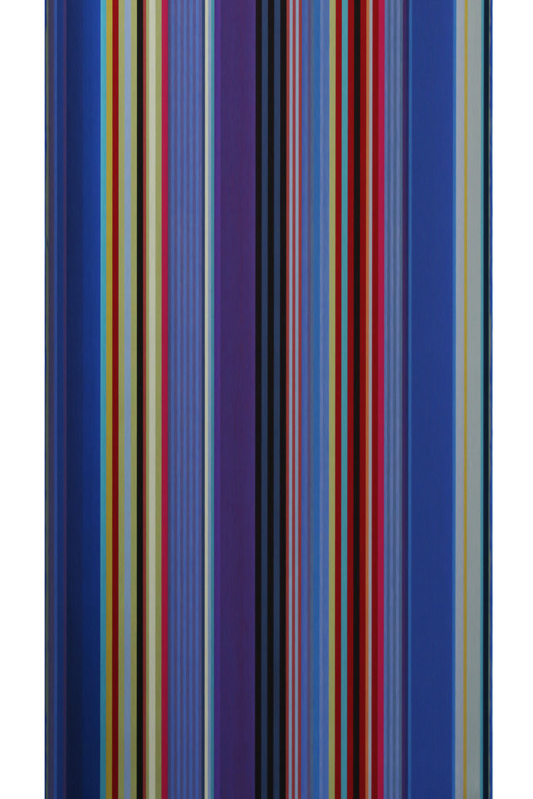 blue stripe textile by wallace sewell