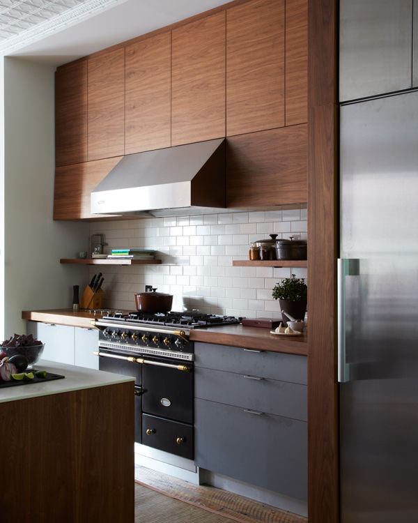 williamsburg renovation brown kitchen