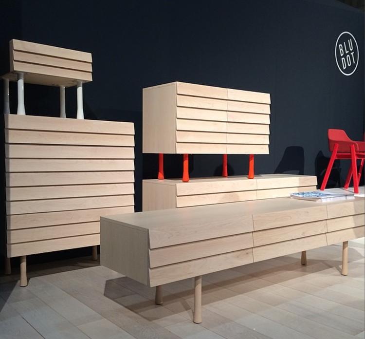 dwell instagram wooden console blu dot icff 2014