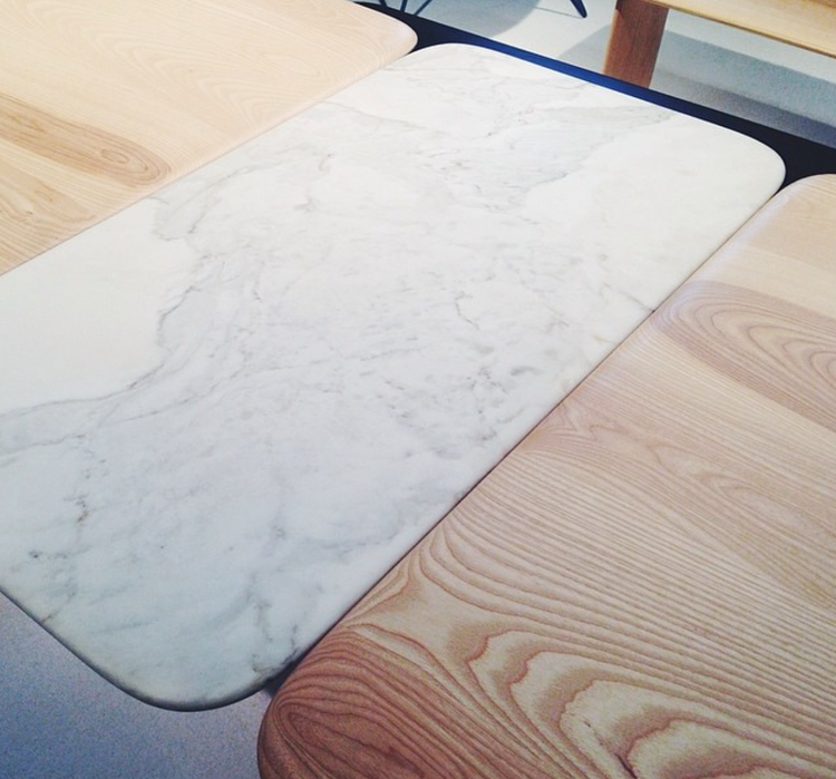 dwell instagram marble dining table icff 2014