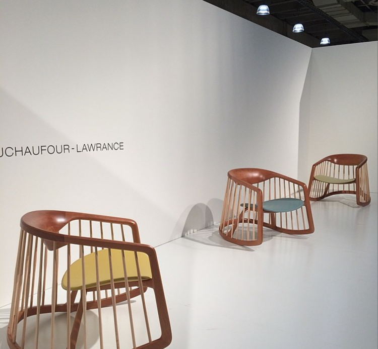 dwell instagram wooden rocking chairs icff 2014