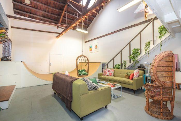 Modern Loft with Designer Halfpipe