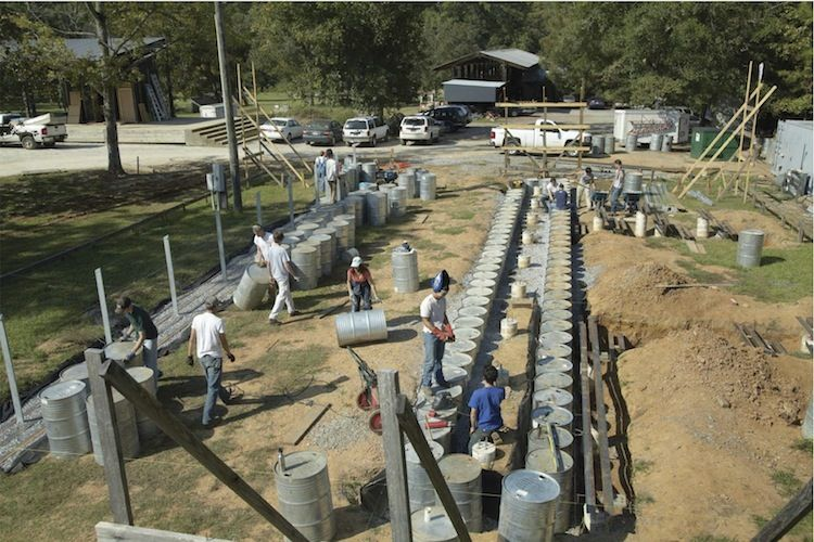 Construction of the Rural Studio Farm