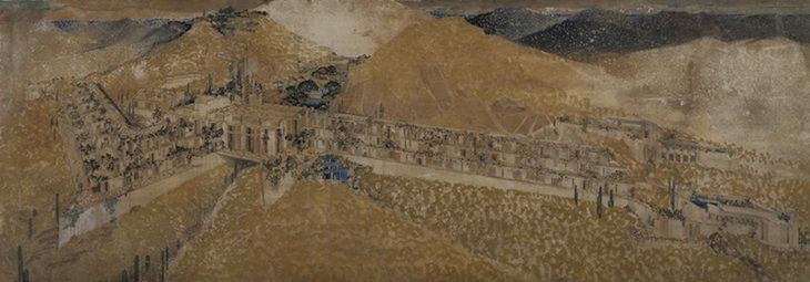 The San Marcos in the Desert project proposal from Frank Lloyd Wright
