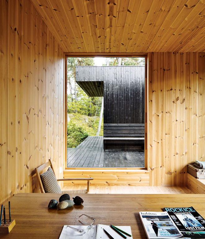 Modern, wood interior in Norway