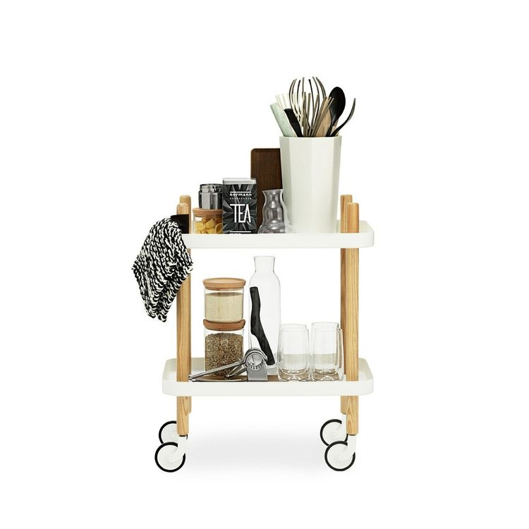 Modern rolling bar cart by Scandinavian designer