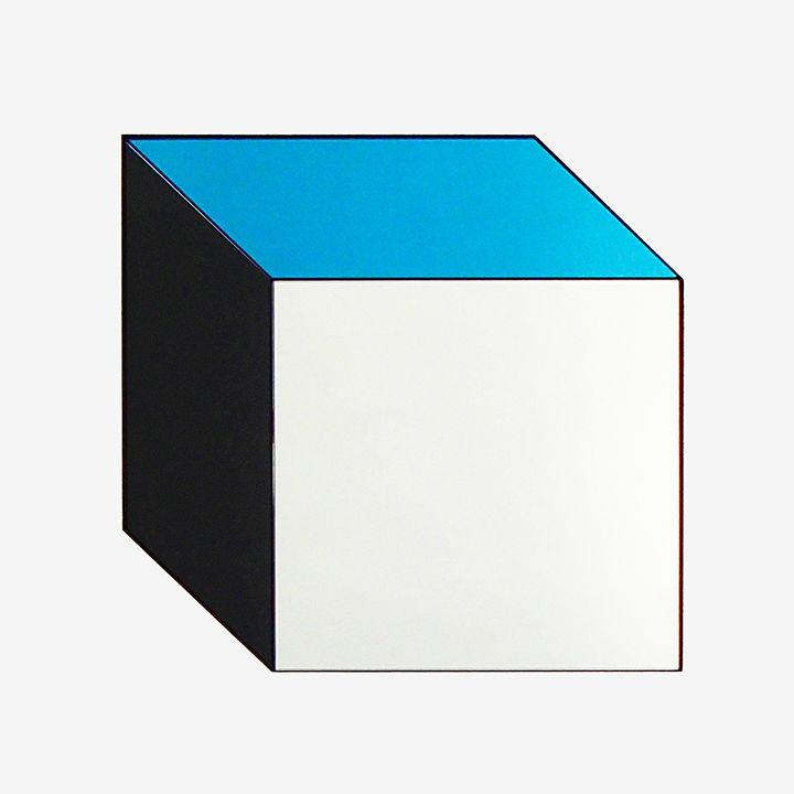 white black blue mirror