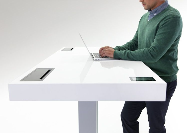 Kinetic Desk by Stir at NeoCon 2014