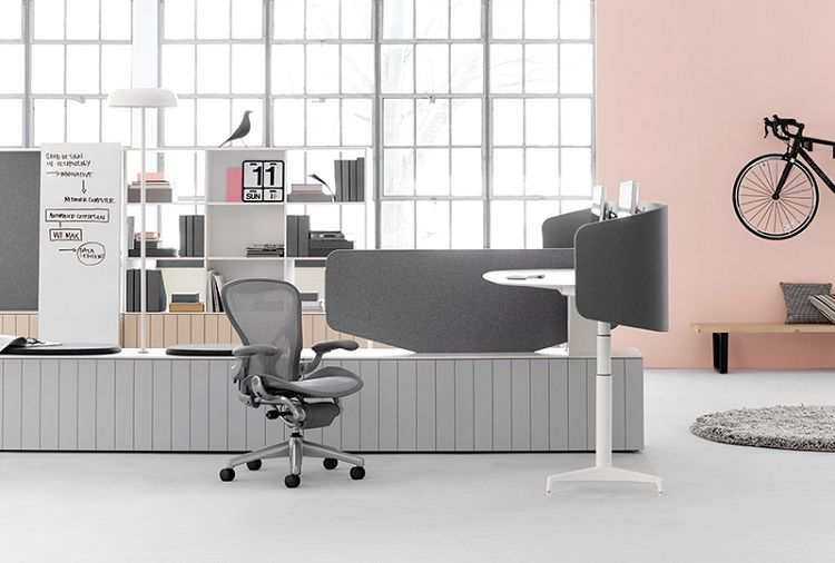 Locale Workstation by Herman Miller at NeoCon