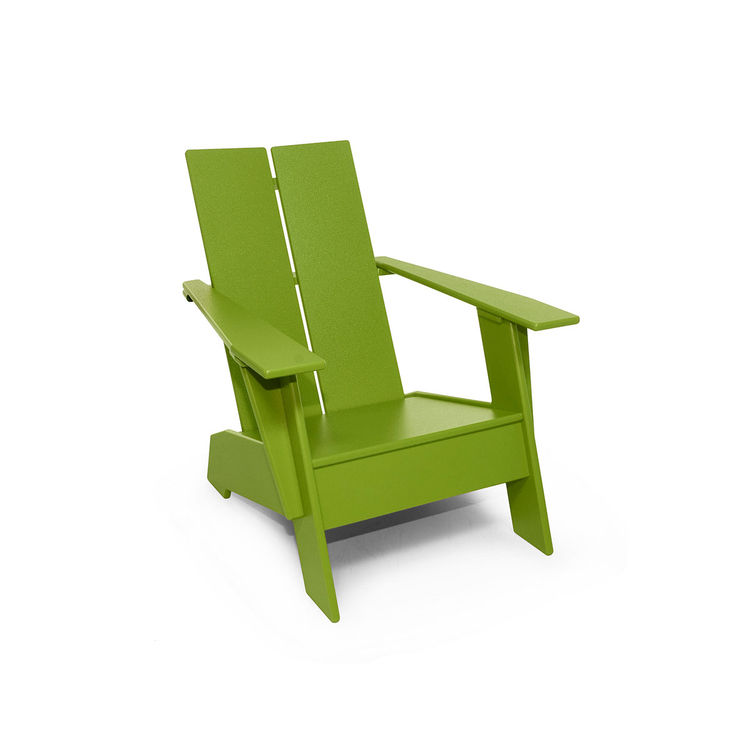 Child's sized, colorful adirondack chair for indoor or outdoor use