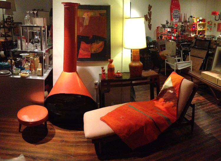 midcentury modern show who new with orange vignette