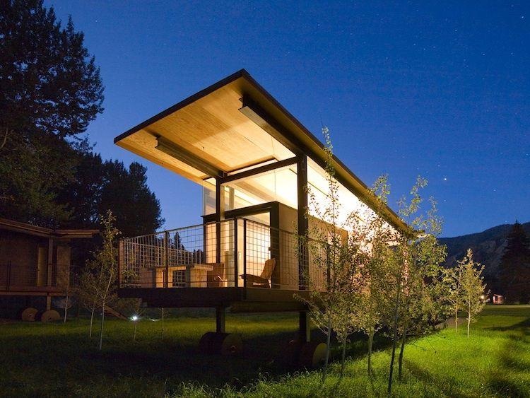 small designer camping cabin in Washington