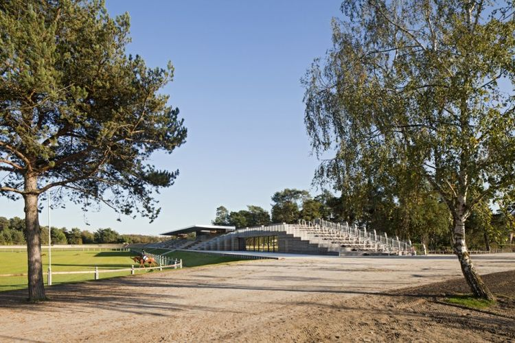 The incredibly minimal Grand Parquet Horse Eventing Area in Fontainbleau, France