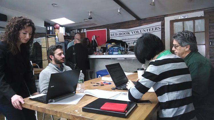 Sandy Design Help Desk in Red Hook, Brooklyn