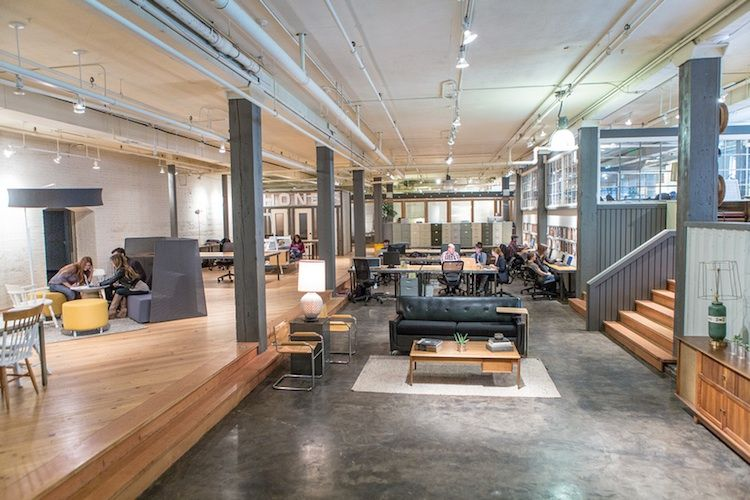 Relaxed industrial cowork space in Seattle