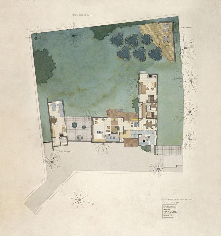 Finn Juhl watercolor plan