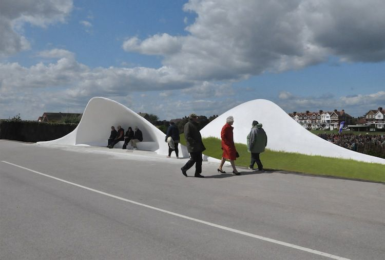 Acoustic shells made of concrete