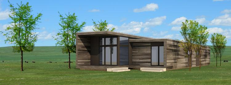Modern prefab home on an Indian reserve