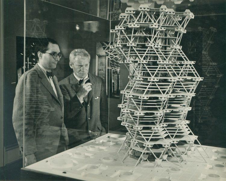 Louis Kahn's tetrahedron high-rise proposal