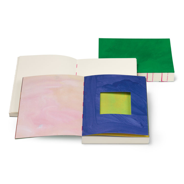 Plumb color swatch notebook.