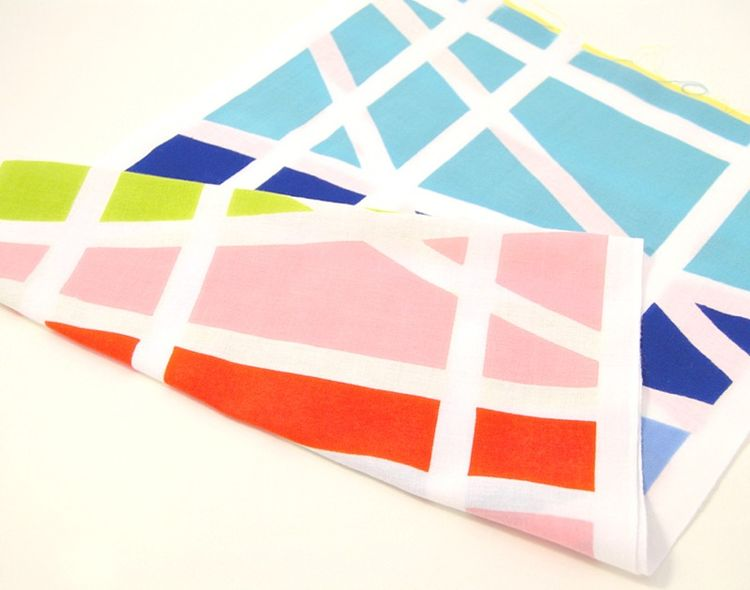 Bright geometric handkerchief in multiple colors