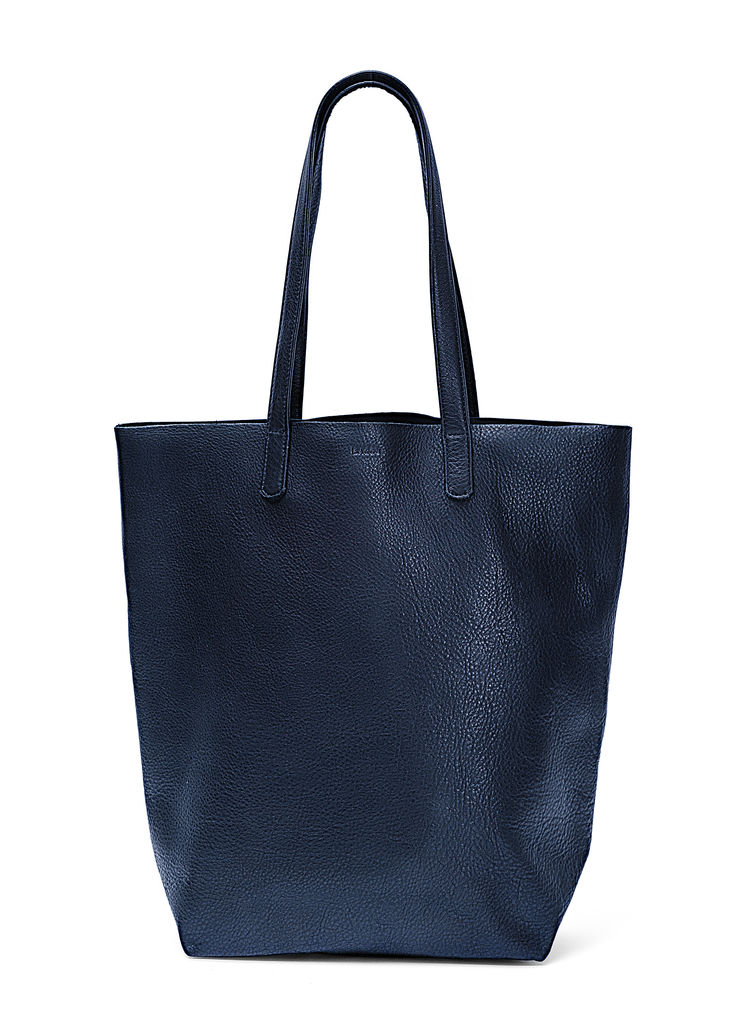 supple leather everyday tote bag