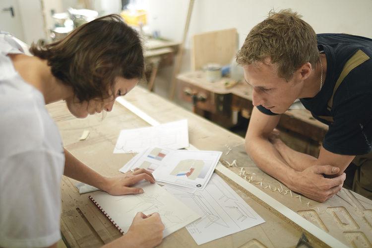 Gesa Hansen in her workshop in Germany