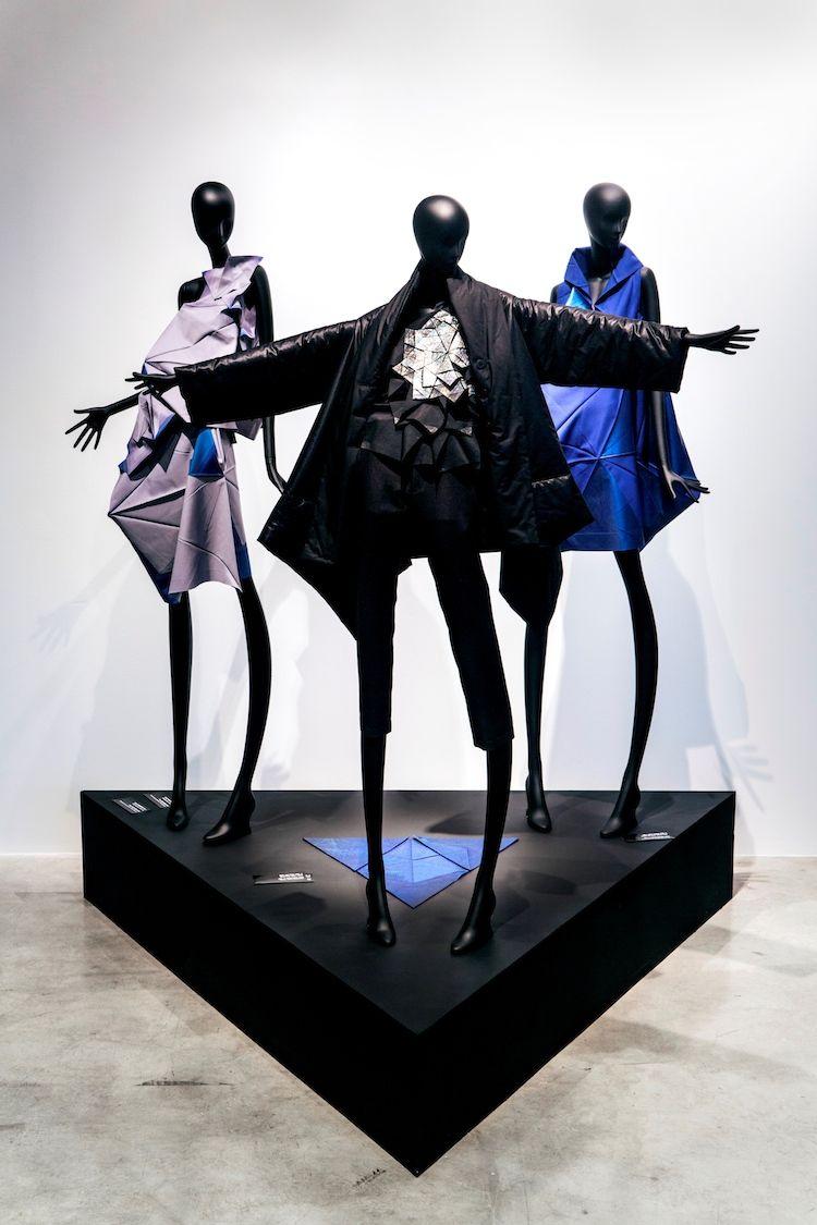 Issey Miyake futuristic fashions