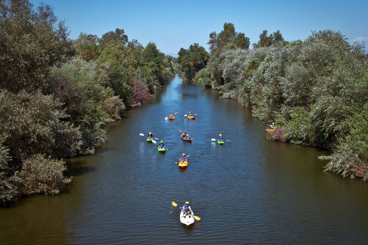 Kayaking the LA River through Sepulveda Basin