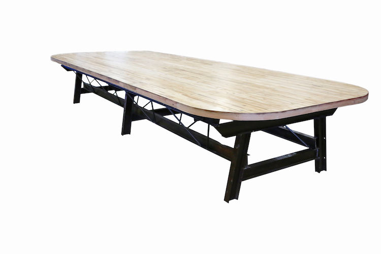 EcoVet Table made from decommissioned truck trailers