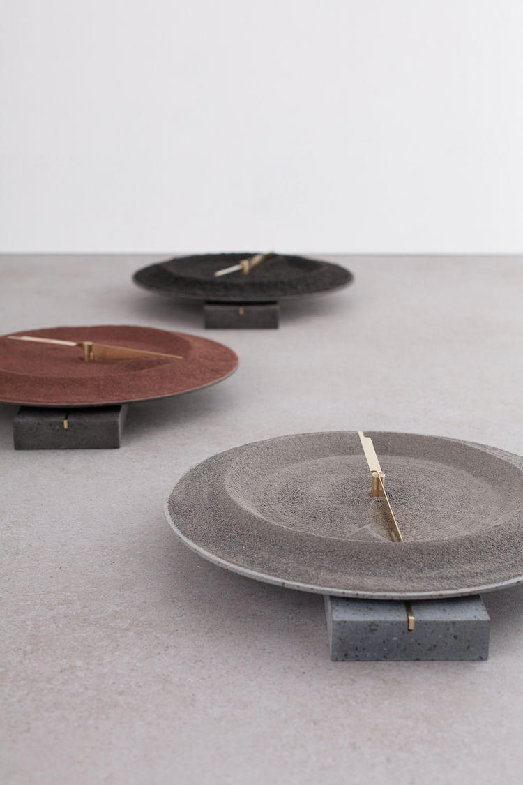 Formafantasma Clocks made from lava