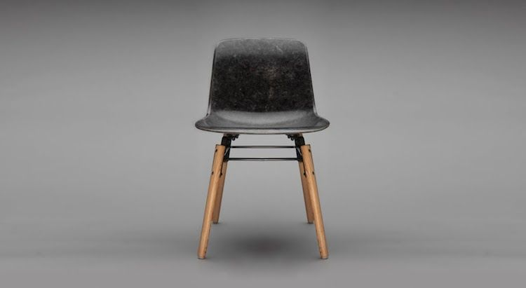 Solidwool Chair made of solid-formed wool